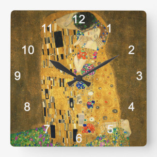 "Clock of ""The Kiss"",No.02 Vierkante Klok"