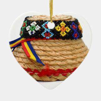 clop traditioneel pet keramisch hart ornament