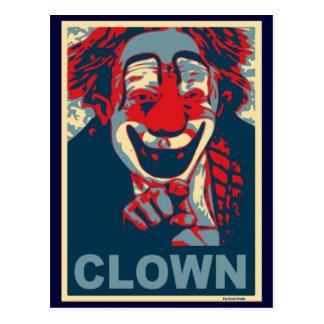 Clown in Rood en Blauw Briefkaart