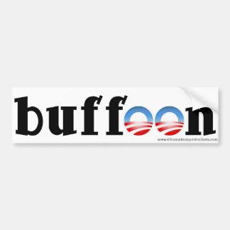 """Clown van de antiSticker van de Bumper Obama de """"! Bumpersticker"""