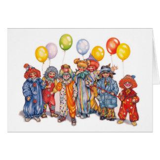 clowns briefkaarten 0