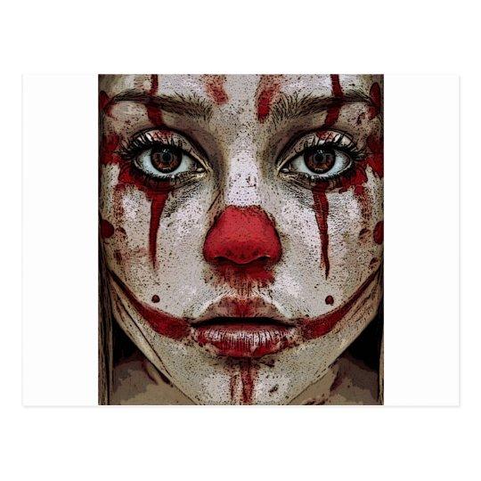 Clown's face briefkaart