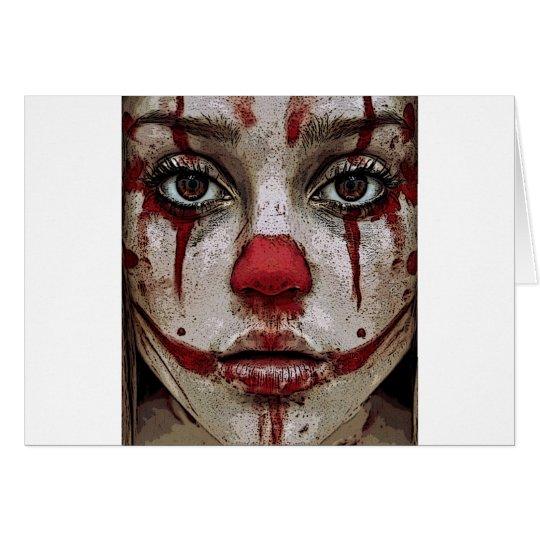 Clown's face kaart