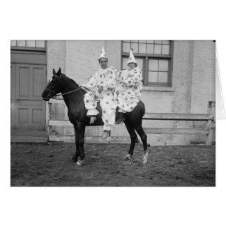 Clowns op een Paard, Verjaardag Briefkaarten 0