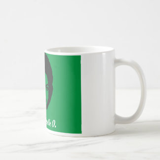 Club Michelle O. Ceramic Coffee Mok, Groene Hoed Koffiemok