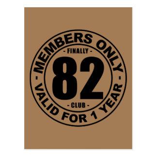 Club tot slot 82 briefkaart