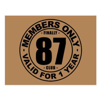 Club tot slot 87 briefkaart