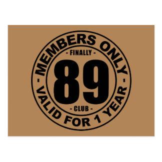 Club tot slot 89 briefkaart