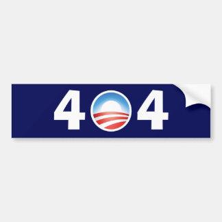 Clueless Obama 404 - Gevonden niet Dossier Bumpersticker