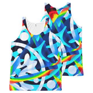 Cluster van het Kleurrijke Abstracte Overhemd van All-Over-Print Tank Top
