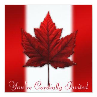 CN RSVP van het Blad van de Esdoorn van Canada Kaart