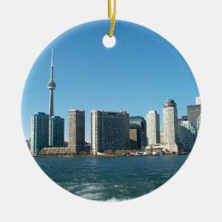 CN van CNTower+Van het meerOntario van Toronto van Rond Keramisch Ornament
