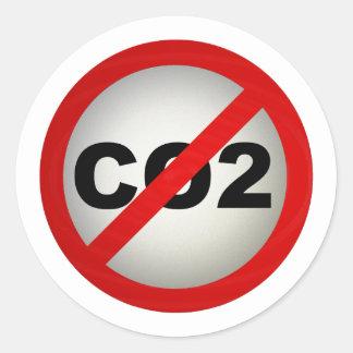 Co2 van het einde ronde stickers