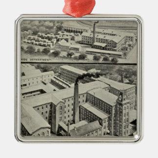 Co van de Klok van Waterbury Zilverkleurig Vierkant Ornament