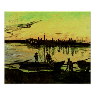 Coal Barges Van Gogh Fine Art. Poster