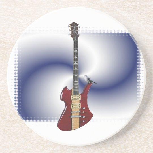 coaster - guitar zandsteen onderzetter