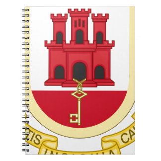 Coat_of_Arms_of_Gibraltar Ringband Notitie Boeken