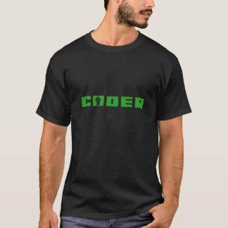 Codeur Groen op Zwarte T-shirt