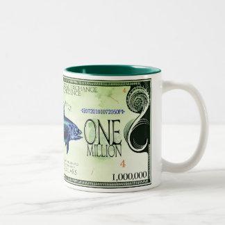 Coelacanth-Ecodollars Tweekleurige Koffiemok
