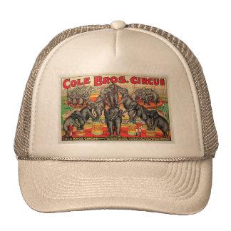 Cole Bros. Circus Mesh Petten