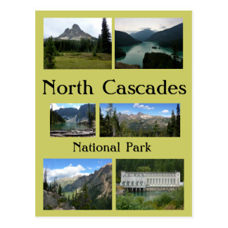 Collage 1 van de Cascades van het noorden Briefkaart