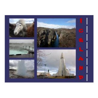 Collage 1 van IJsland Briefkaart