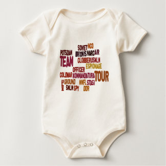 Collage 2 van het Sleutelwoord van Coldwar Baby Shirt
