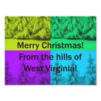 Collage Kerstboom van de West- van Virginia de Fotoafdruk