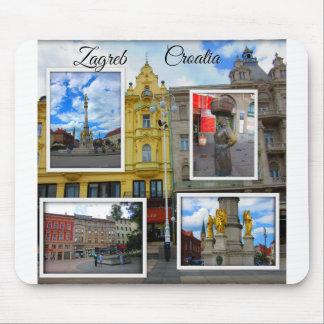 Collage van de Foto van de Stad van Zagreb de Oude Muismat