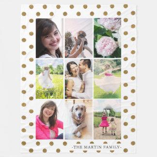 Collage van de Foto van het Stip van Faux de Fleece Deken
