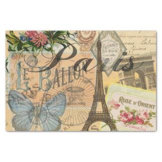 Collage van de Reis van Parijs Frankrijk de Tissuepapier