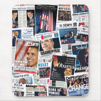 Collage van Front Page van de Overwinning van Muismat