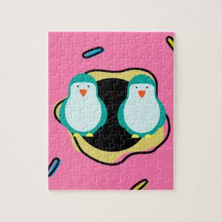 Collectie van de Illustratie van de Doughnut van Puzzels
