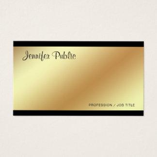 Collectieve Moderne Elegante Zwarte en Gouden Visitekaartjes
