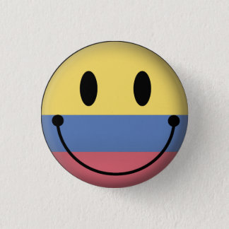 Colombia Smiley Ronde Button 3,2 Cm