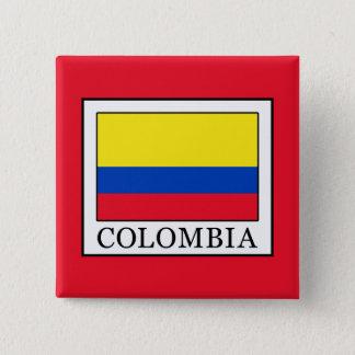 Colombia Vierkante Button 5,1 Cm
