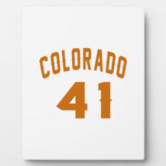 Colorado 41 Design van de Verjaardag Platen