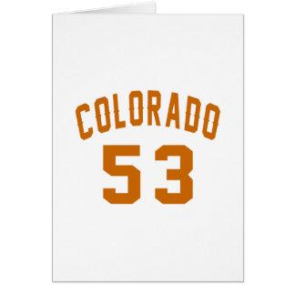 Colorado 53 Design van de Verjaardag Briefkaarten 0