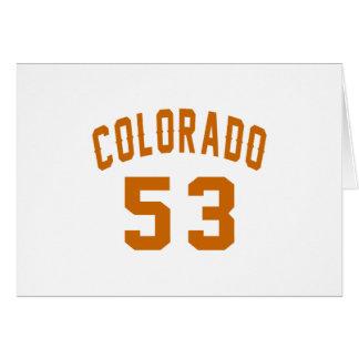 Colorado 53 Design van de Verjaardag Kaart