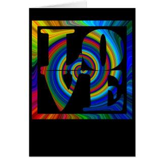 colorburst ontworpen spiraalvormige vierkante kaart