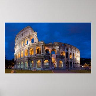 Colosseum bij Schemer Poster