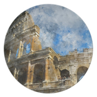Colosseum in Oud Rome Italië Melamine+bord