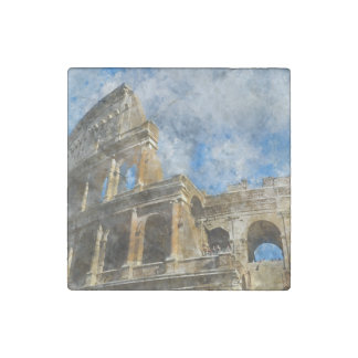Colosseum in Oud Rome Italië Stenen Magneet