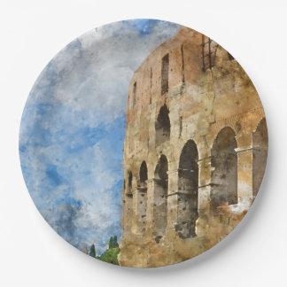 Colosseum in Rome, Italië Papieren Bordje