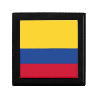Columbiaanse vlag vierkant opbergdoosje small