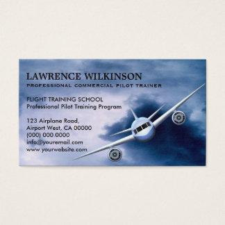 Commercieel Vliegtuig in de Visitekaartjes van de Visitekaartjes