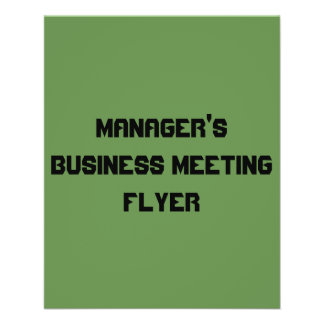 commerciële van de manager vergaderingsvlieger flyer