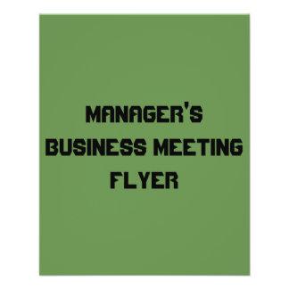 commerciële van de manager vergaderingsvlieger folder