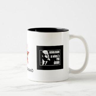 commie: revolutie, commie ster, commie: revoluti… tweekleurige koffiemok