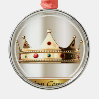 Communautaire Kroon 2 van het Koninkrijk Zilverkleurig Rond Ornament